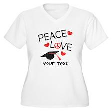 Peace Grad Optional Text Plus Size T-Shirt
