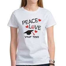 Peace Grad Optional Text Tee