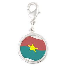 Waving Burkina Faso Flag Charms