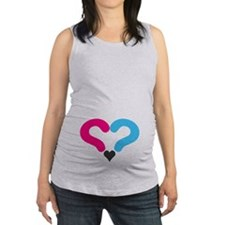 Maternity Question Mark Heart Maternity Tank Top