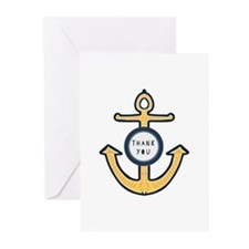 Anchor Thank you Greeting Cards
