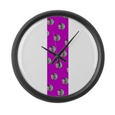 Purple Bounce Basketballs 18 Large Wall Clock