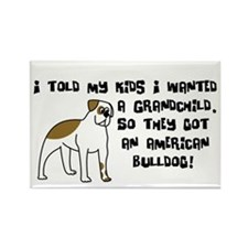 Grandchild American Bulldog Rectangle Magnet