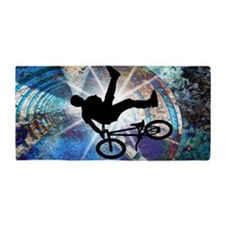 BMX in Grunge Tunnel beach towel Beach Towel