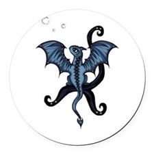 blue Dragon Round Car Magnet