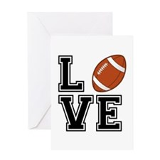 Love football Greeting Cards