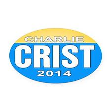 Charlie Oval Car Magnet