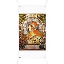 Alphonse Mucha La Plume Zodiac Banner