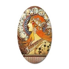 Alphonse Mucha La Plume Wall Decal