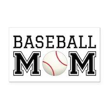 Baseball mom Rectangle Car Magnet