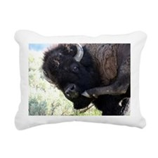 Yellowstone Wild Buffalo Rectangular Canvas Pillow
