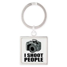 I Shoot People Photography Keychains