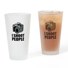 I Shoot People Photography Drinking Glass