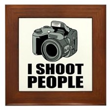 I Shoot People Photography Framed Tile