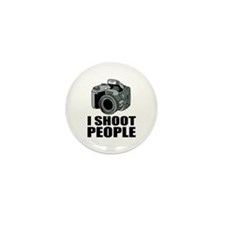 I Shoot People Photography Mini Button (100 pack)