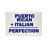 Puerto Rican + Italian Rectangle Magnet (10 pack)