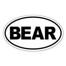 Bear Oval Decal