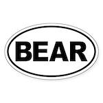 Bear Oval Sticker