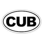 Cub Oval Sticker