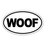 Woof Bumper Stickers