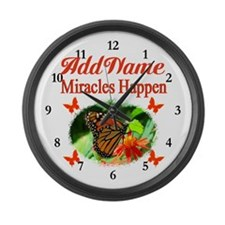 MIRACLES HAPPEN Large Wall Clock