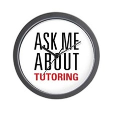 Tutoring - Ask Me - Wall Clock