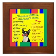 Boston Terrier Framed Tile