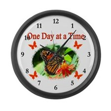 ONE DAY AT A TIME Large Wall Clock
