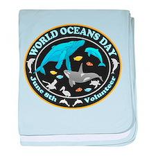 World Oceans Day baby blanket