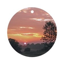 Farm Sunrise Ornament (Round)