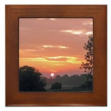 Farm Sunrise Framed Tile