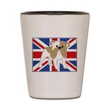 English Bulldog Flag Shot Glass