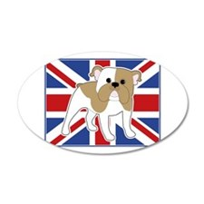 English Bulldog Flag Wall Decal