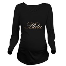 Alda in Gold Long Sleeve Maternity T-Shirt