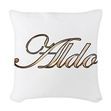 Aldo in Gold Woven Throw Pillow
