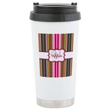 Abstract Floral Pattern Travel Mug