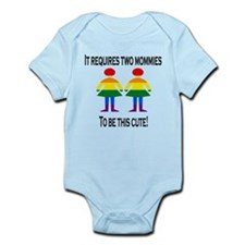 Two mommies Body Suit