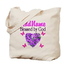 BLESSED BY GOD Tote Bag