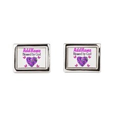 BLESSED BY GOD Rectangular Cufflinks