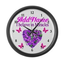 BELIEVE MIRACLES Large Wall Clock