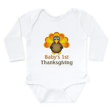 babys first thanksgiving ne turkey Body Suit
