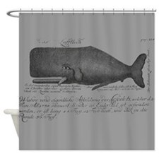 Vintage Whale Shower Curtain