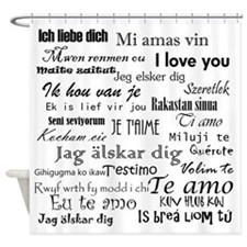 International I Love You Shower Curtain