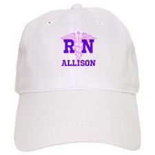 Pink and Purple personalized RN Baseball Cap