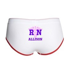 Pink and Purple personalized RN Women's Boy Brief