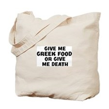 Give me Greek Food Tote Bag