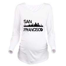 San Francisco Skyline Long Sleeve Maternity T-Shir