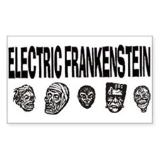 Electric Frankenstein logo Rectangle Decal
