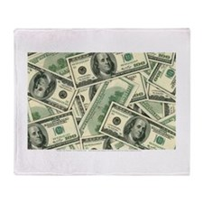 Cash Money Throw Blanket