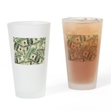 Cash Money Drinking Glass